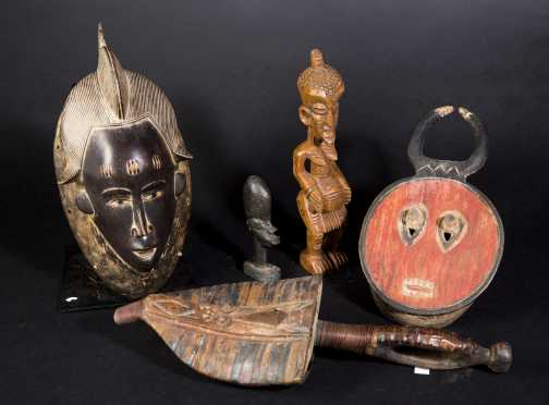 Three Decorative African Objects