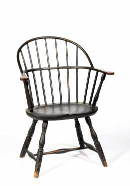 Paint Decorated Bowback Windsor Armchair