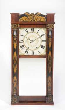 "Paint Decorated ""Orrin Hart"", Bristol, Conn Wall Clock"