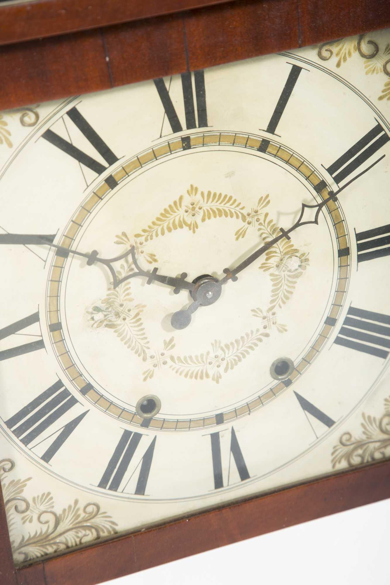 Paint Decorated Quot Orrin Hart Quot Bristol Conn Wall Clock