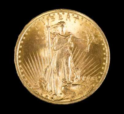 1908 Double Eagle $20 Gold Coin
