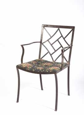 English Wrought Iron Chippendale Armchair