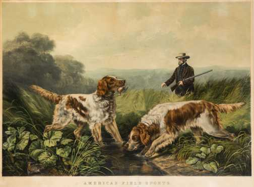 "Currier and Ives ""American Field Sports-Retrieving"""