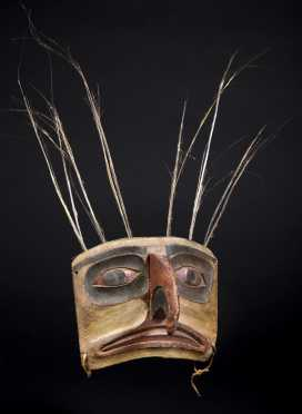 A Superb Northwest Coast Indian Frontlet, Haida
