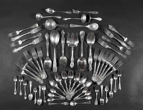 Large Lot of Sterling Silver Flatware