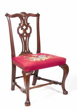 Massachusetts Mahogany Chippendale Shell Carved Side Chair