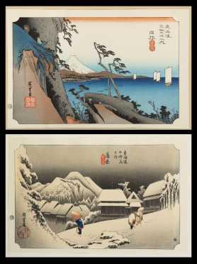 Ado Hiroshige, Two Prints