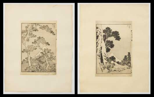 Karsushika Hokusai (1764-1849), Two Prints