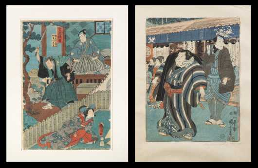 Kuniyoshi (1797-1861), Two Block Prints