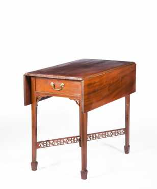 Important American Cross Stretcher Pembroke Table