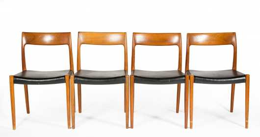 Four Niels Otto Moller Model 77 Chairs