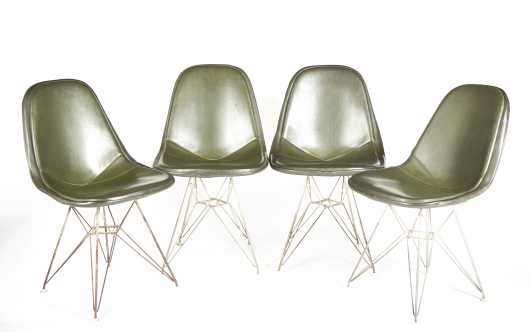 Four Eiffel Chairs, Herman Miller Inc.
