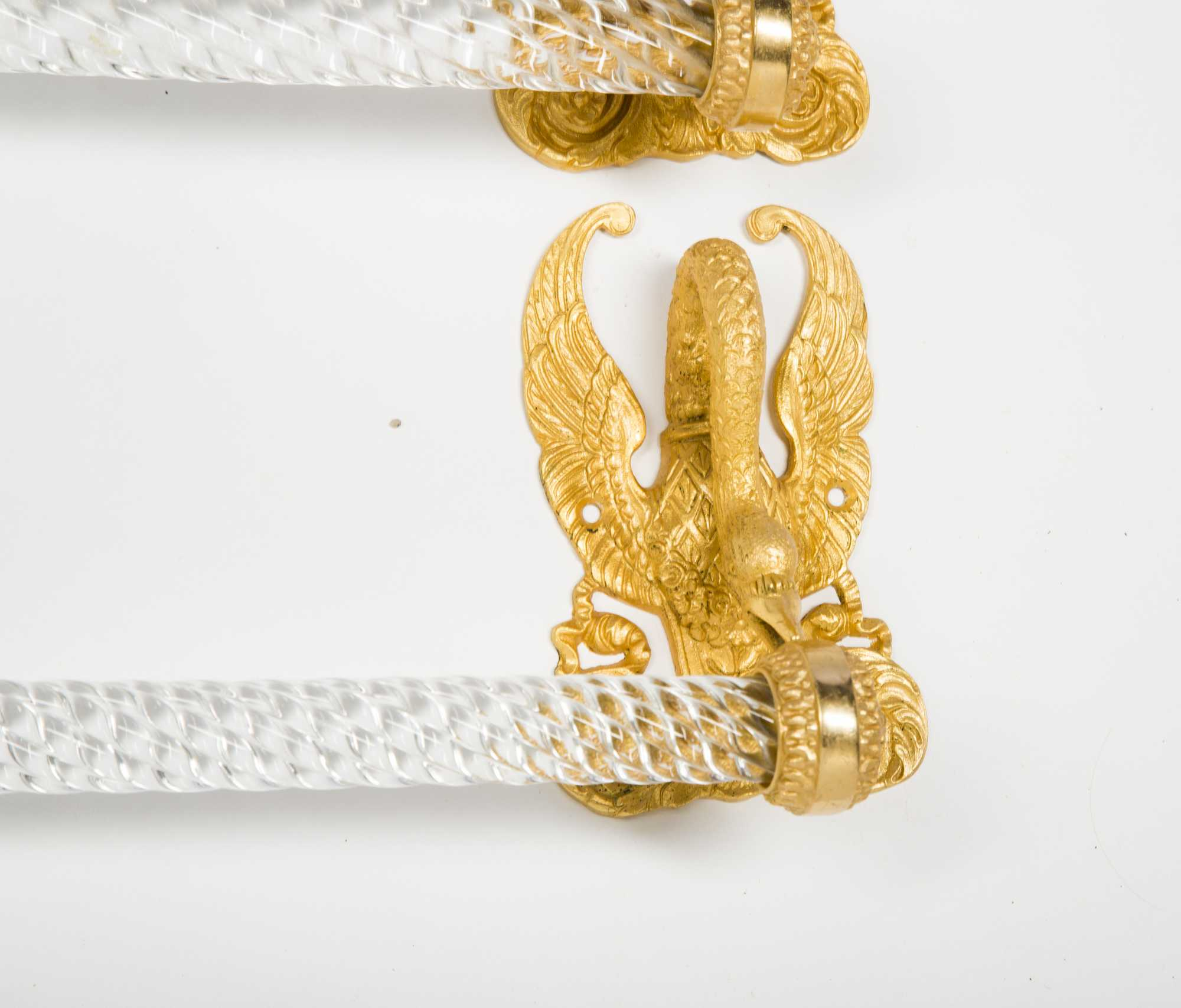 Sherle Wagner 24kt. Gold Plated Swan Bathroom Fixtures