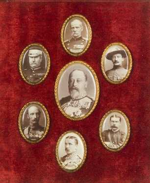 Oval Pictures of King Edward VII, Boer War Cabinet