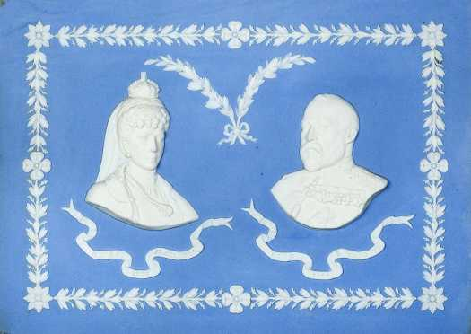 Wedgwood Plaque of King Edward and Queen Alexandra