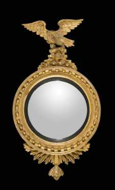 English Labeled Girandole Mirror