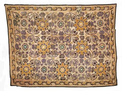 Suzani Embroidered Coverlet