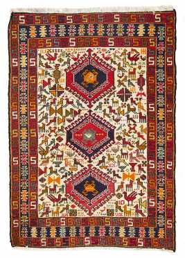Northwest Persian Sumac Scatter Rug
