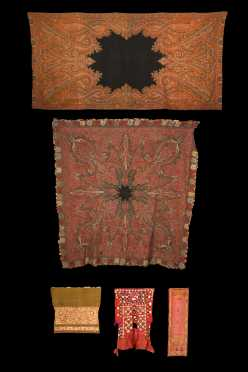 Lot of Five Middle Eastern Textiles