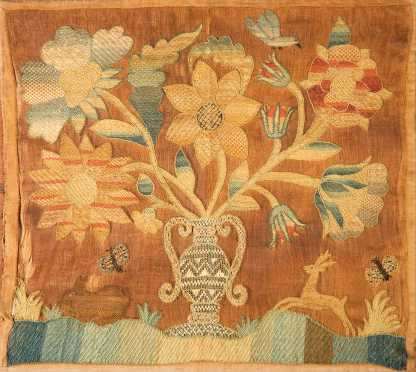 """1755 Ann Flower"" Needlework Textile"