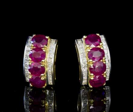 Ruby and Diamond Earrings *Available for $1700*