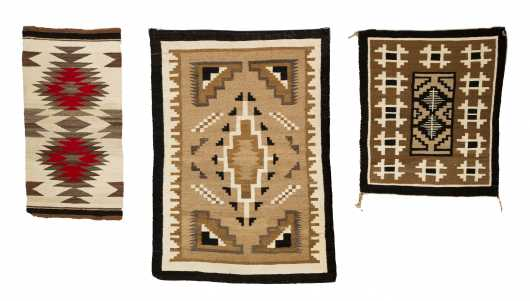 Three Navajo Scatter Size Rugs