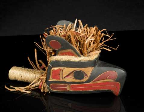 Northwest Coast Painted Rattle