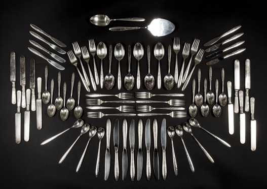 Gorham Sterling Dinner Service for Eight and MOP Dessert Set for Eleven