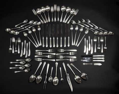 Sterling Silver Table Service for Eight