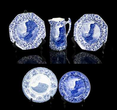 """Old Man in the Mountain"" NH Commemorative Dishes"