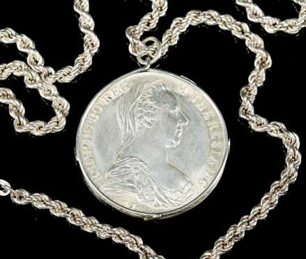 Maria Theresia DG 1780 Silver Coin Necklace