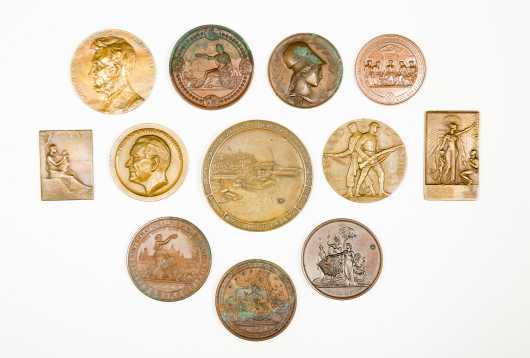 Twelve Bronze Commemorative Medals