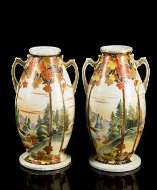 Pair of Nippon Vases