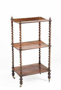 Regency Rosewood Set of Three Shelves