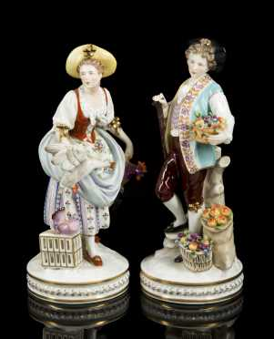 Pair of German Porcelain Figures
