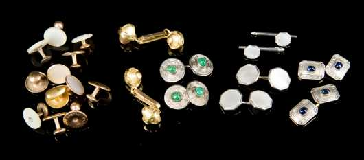 Four Sets of Cufflinks and Miscellaneous Accessories