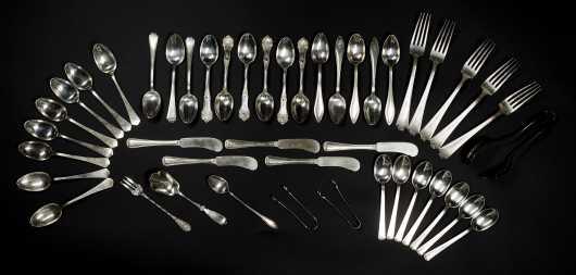 Forty-Seven Pieces Sterling Silver