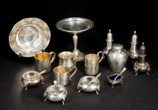 Fourteen Sterling Silver Tablewares