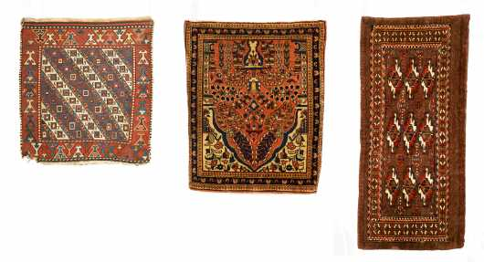 Three Small Oriental Rugs