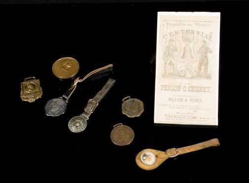 Watch Fobs, Grant Metal, and 19thC Republican Ticket