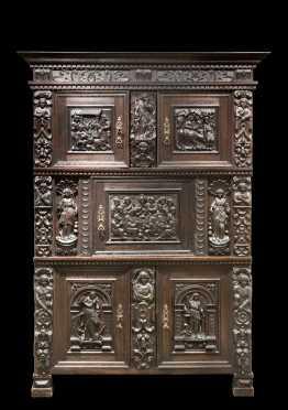 20thC Copy of a 1641 Norddeutscher Schrank
