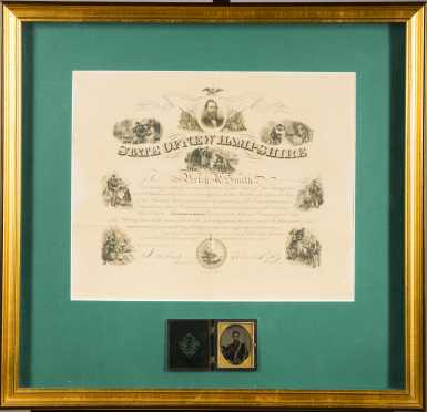Lot of Civil War Discharge Certificates