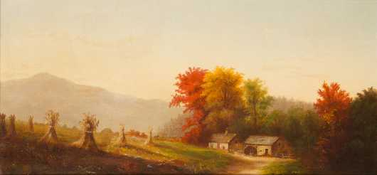 New England Fall Farm Scene Painting