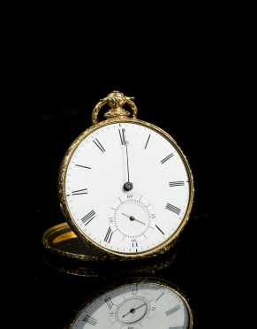 Swiss Made Gold Pocket Watch