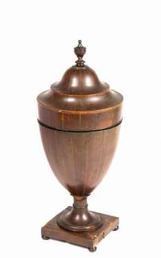 Regency Inlaid Mahogany Urn Form Knife Box,