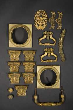 Lot of Cast Brass Furniture Hardware