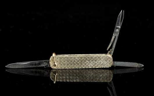 Cartier Gold Woven Pocket Knife