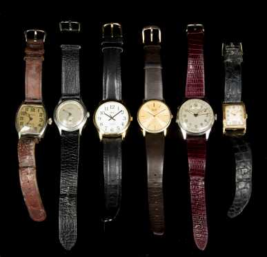 Six Mens Wrist Watches