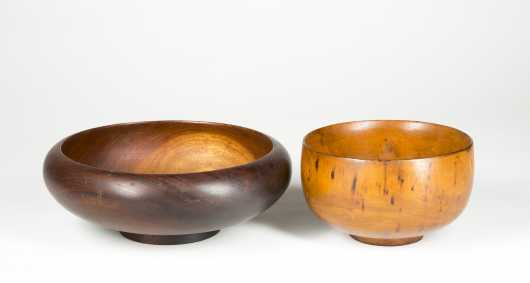 Two Hawaiian Turned Wooden Bowls