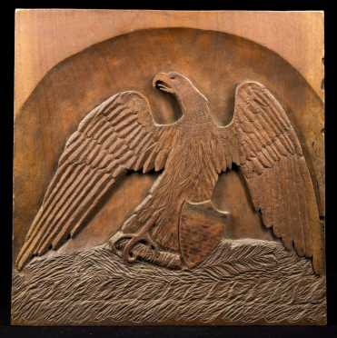 American Eagle Carved Plaque